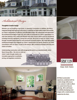 Flyer/Sell Sheet Presentation Design for Fine Home Builders and Architects
