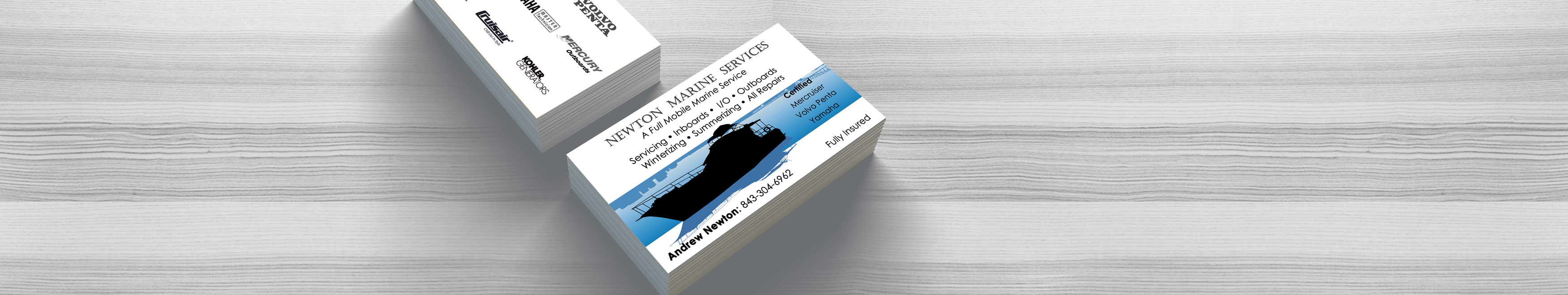 double sided business cards - designed and delivered by Insite Media Design