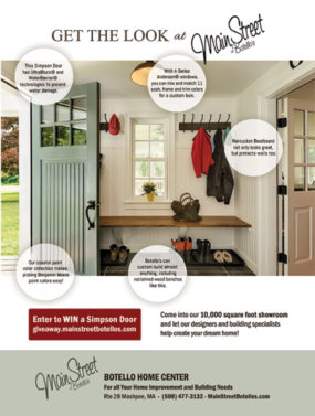 Full page magazine ad for builder supplier showroom