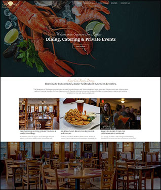 restaurant web design by Insite Media Design