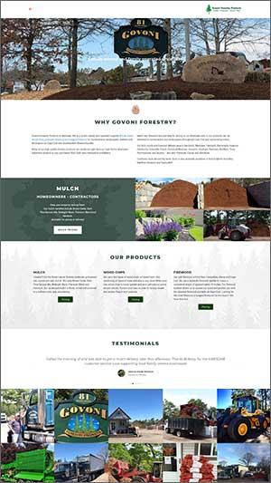 landscape supply website design