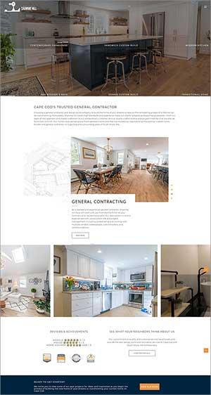website for custom home builder in Sandwich MA